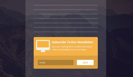 Below content newsletter subscribe forms
