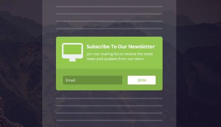 Inline newsletter subscribe forms
