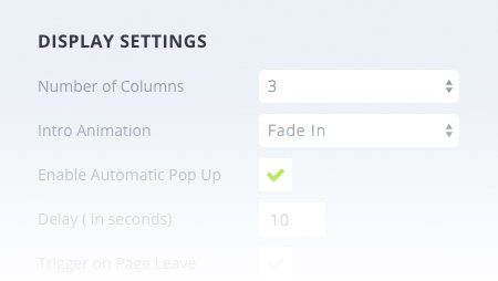 Social share settings