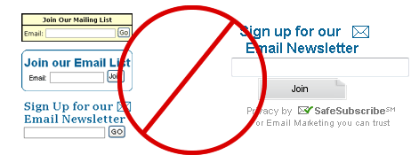 Stop using ugly subscribe forms